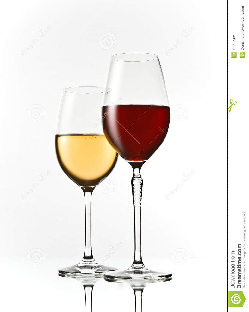 Red And White Wine Glasses Stock Photography - Image: 13695502