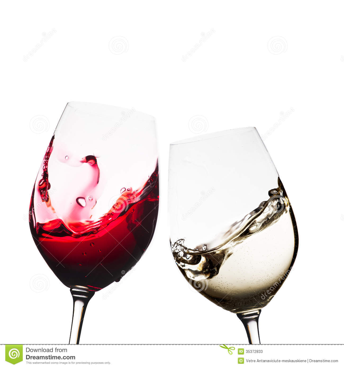 Red and white wine glasses stock image. Image of liquor ...