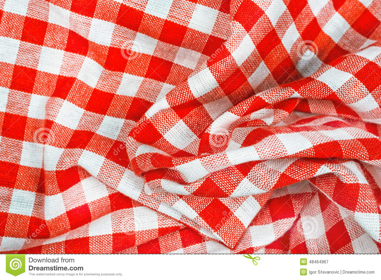 red and white wrinkled checkered tablecloth stock image. Black Bedroom Furniture Sets. Home Design Ideas
