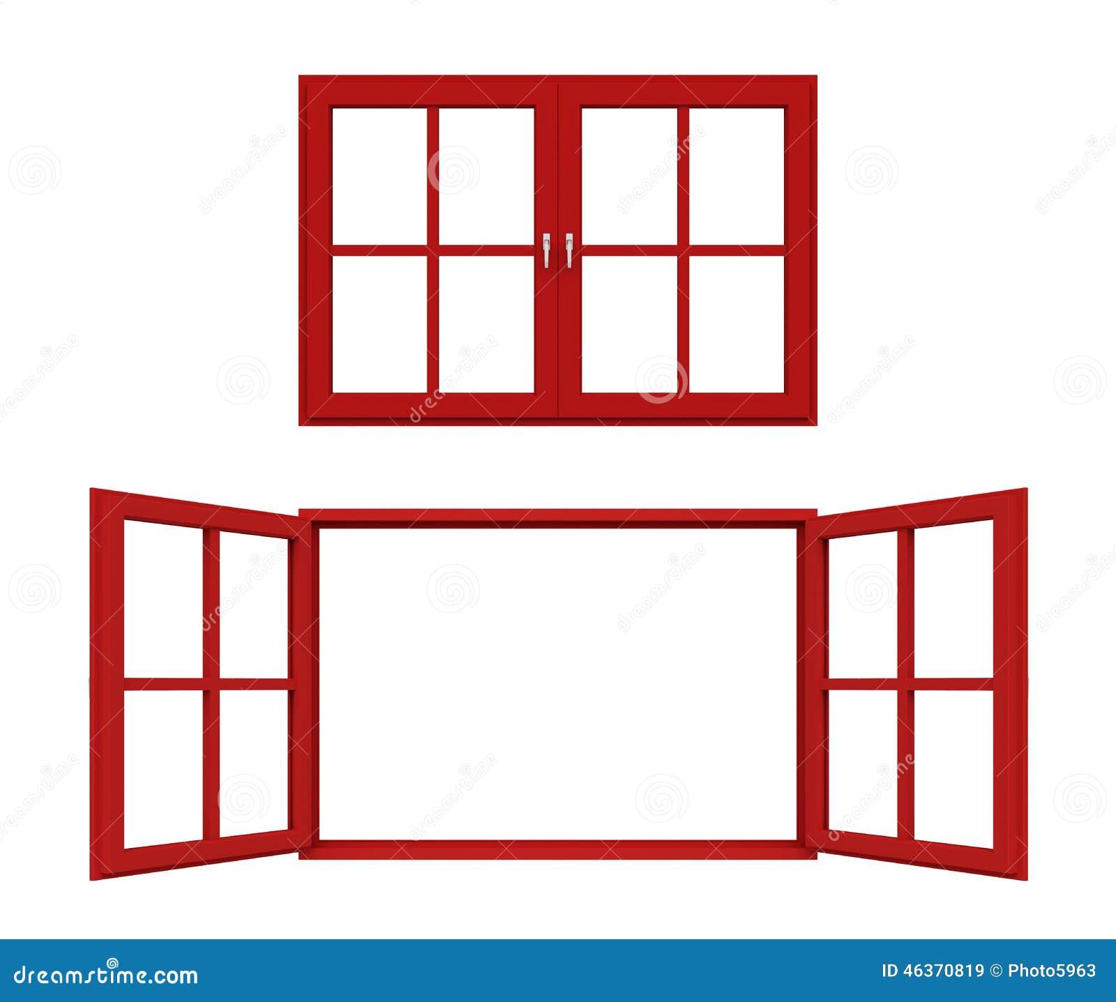 Red Window Frame Stock Illustration Image 46370819
