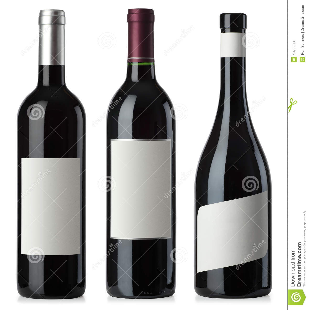 Red wine blank bottles with labels stock photo image for How to put labels on bottles