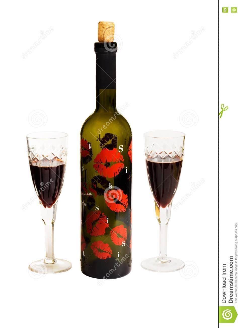 Red wine bottle and glass stock photo image 17043650 for Wine bottle glass