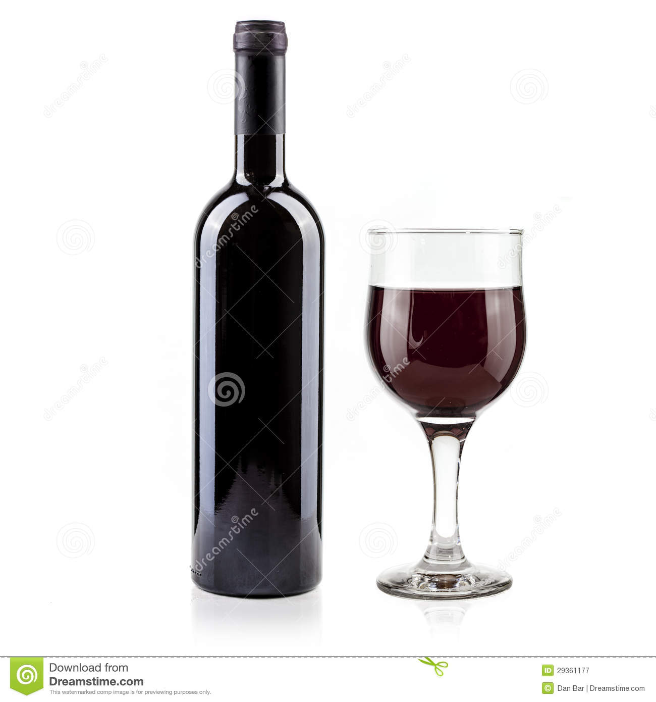 Red wine bottle and glass royalty free stock photography for Wine bottle glass