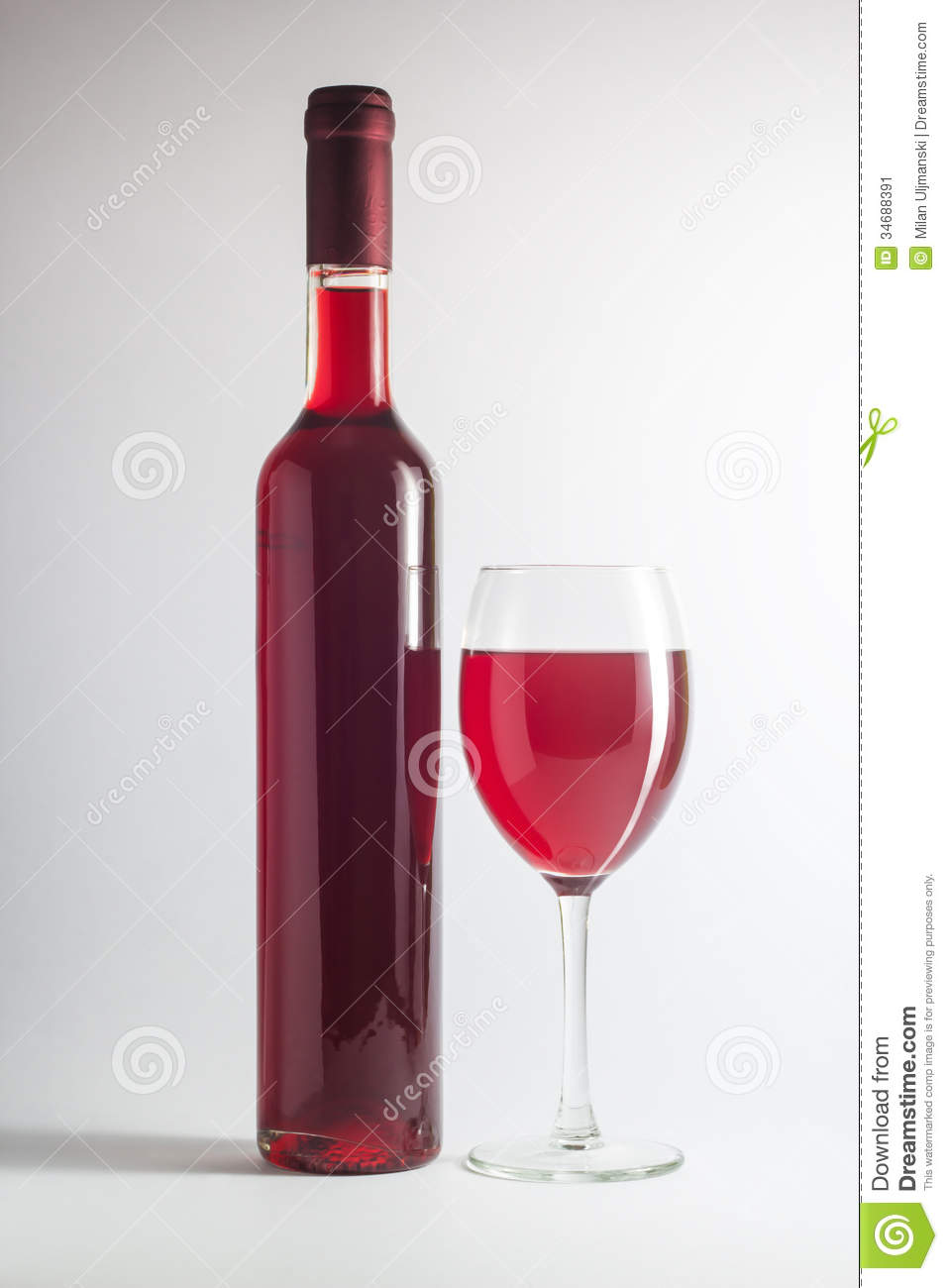 Red wine bottle and a glass stock image image 34688391 for Wine bottle glass