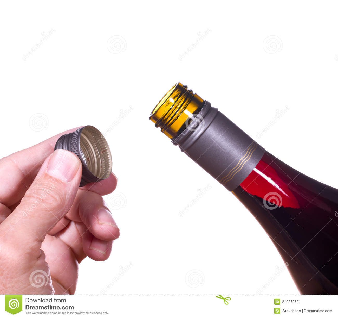 Red Wine Bottle Opened Screw Top Royalty Free Stock Photos