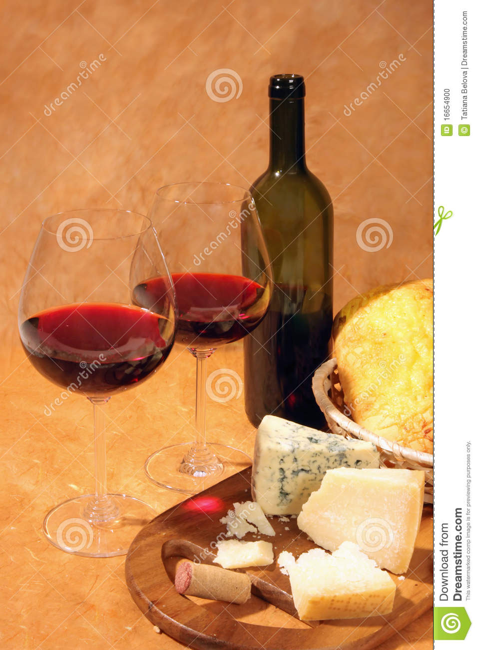 Red Wine And Cheese Stock Photo - Image: 16654900