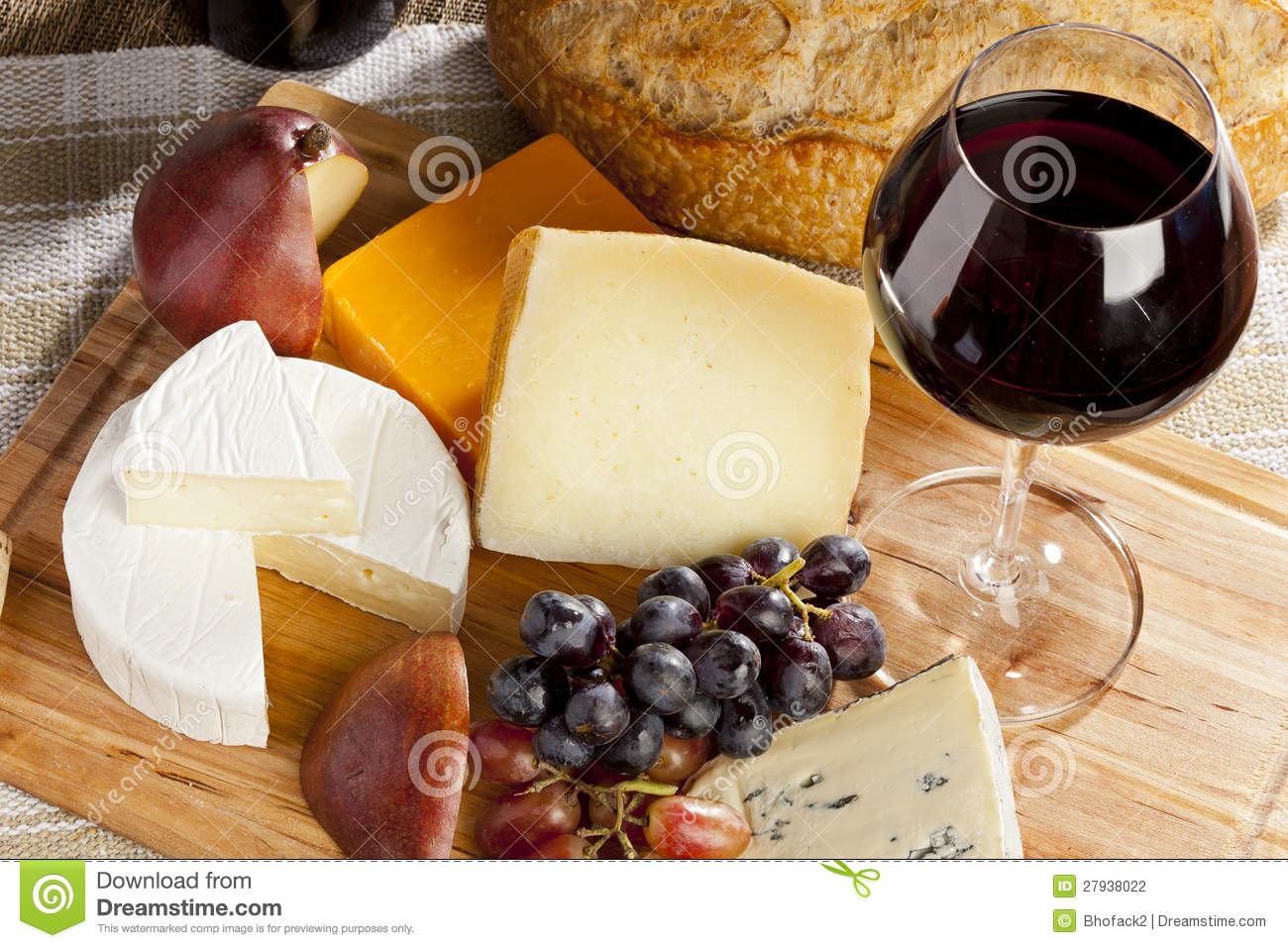 Red Wine And Cheese Plate Stock Photography Image 27938022