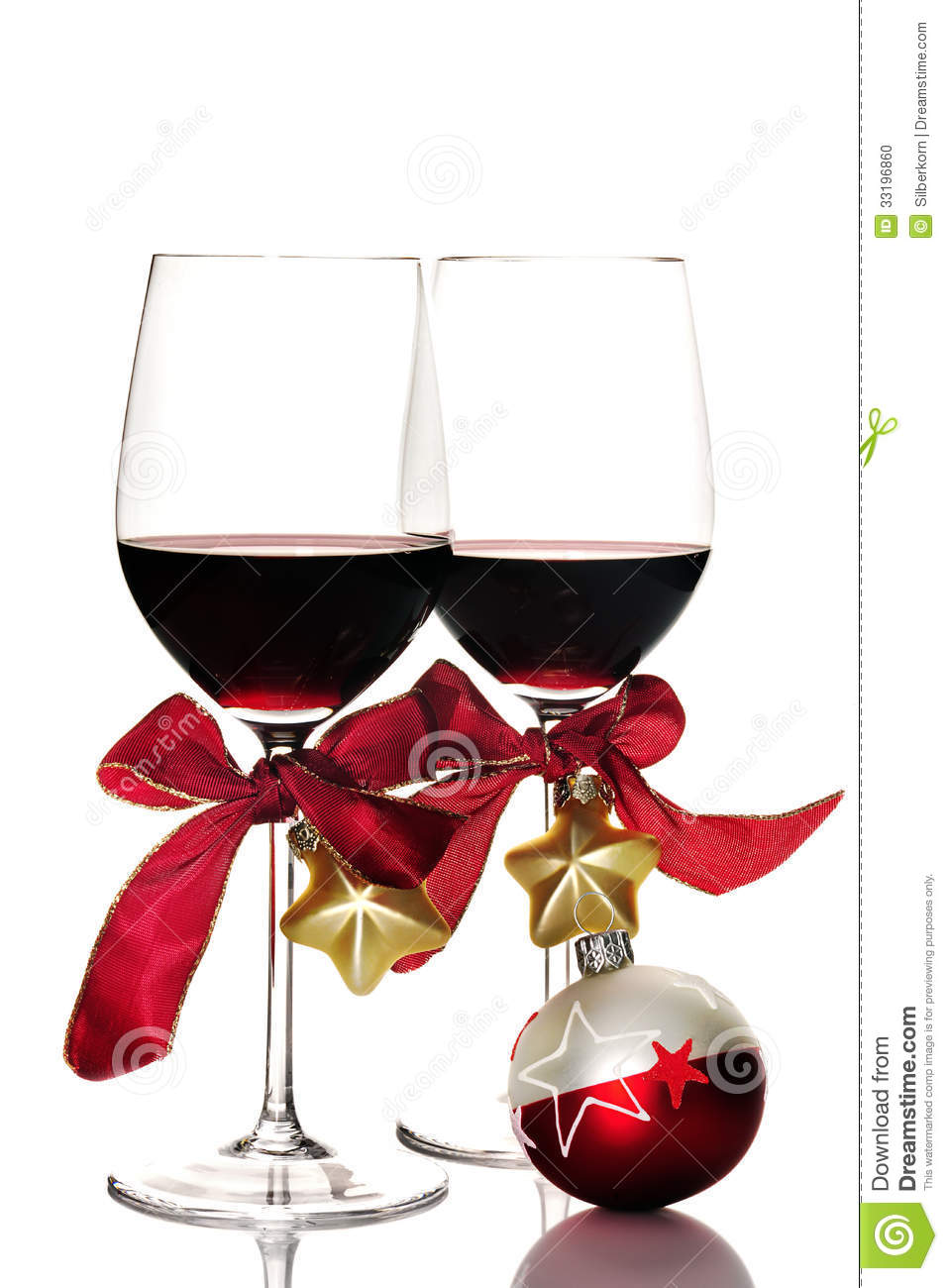 red wine and christmas ornaments - Wine Christmas