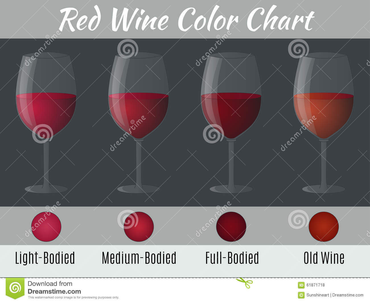 Red wine color chart stock vector illustration of full 61871718 red wine color chart nvjuhfo Image collections