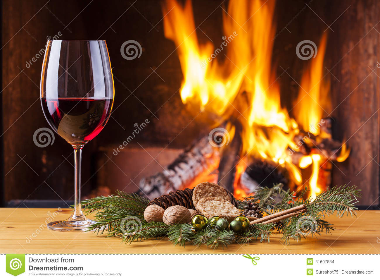 white and red christmas fireplace stock images image 16717134