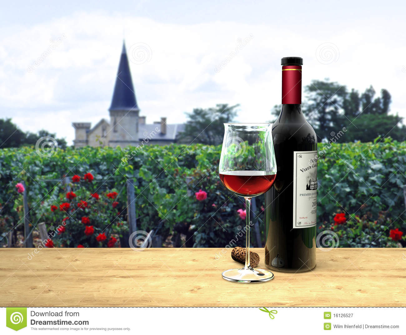 Red Wine In French Mdoc