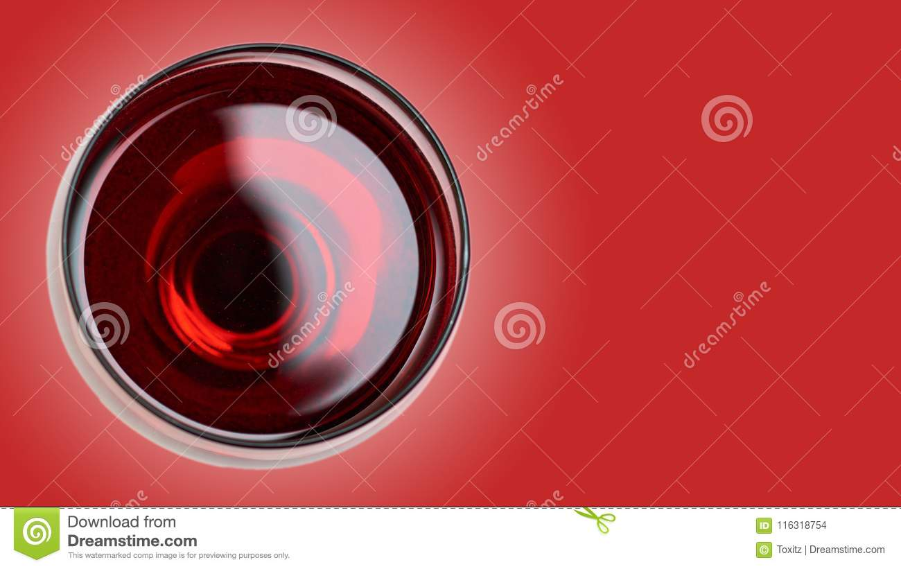 Red Wine In Glass. On Color Background Stock Photo - Image ...