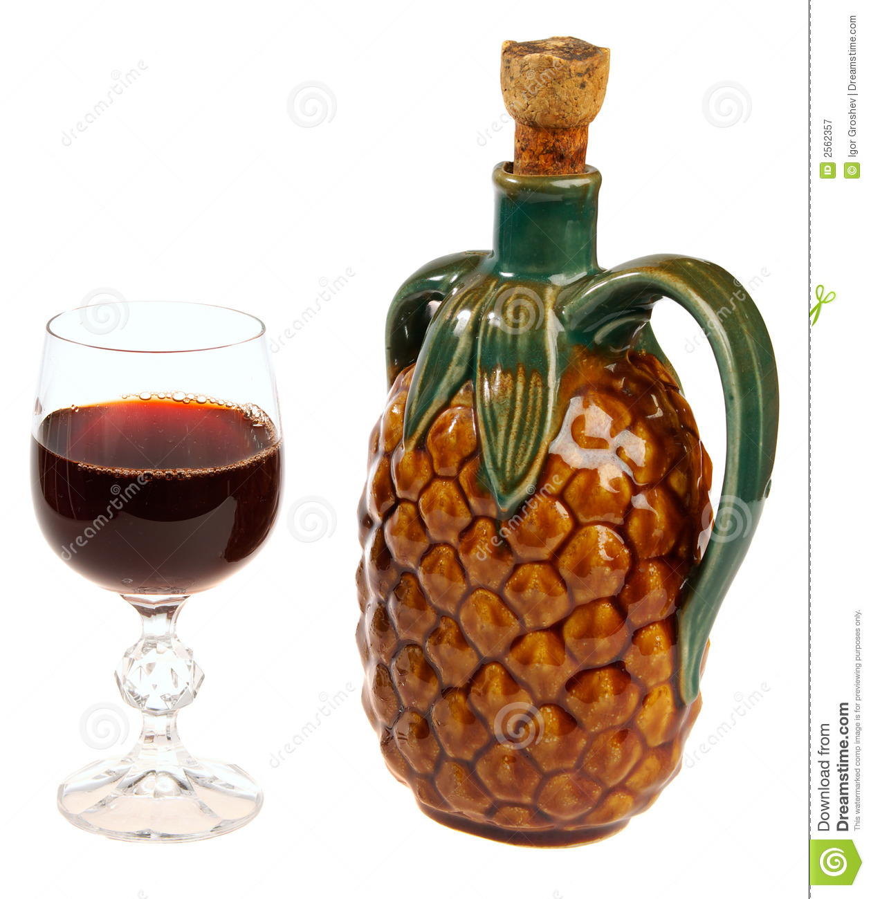 Red Wine Glass And A Exotic An Stock Image Image 2562357