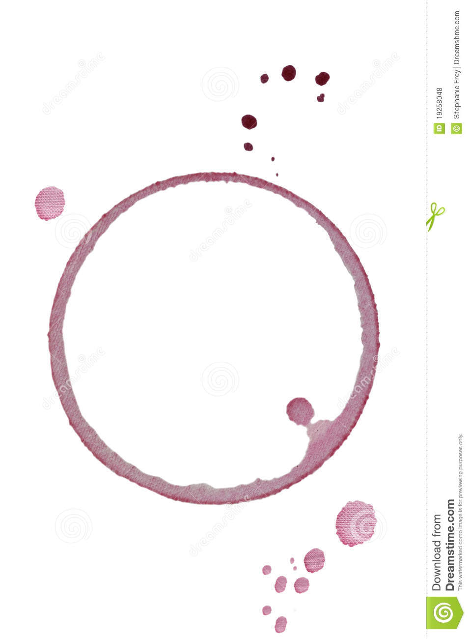 Red Wine Glass Ring Royalty Free Stock Photos Image