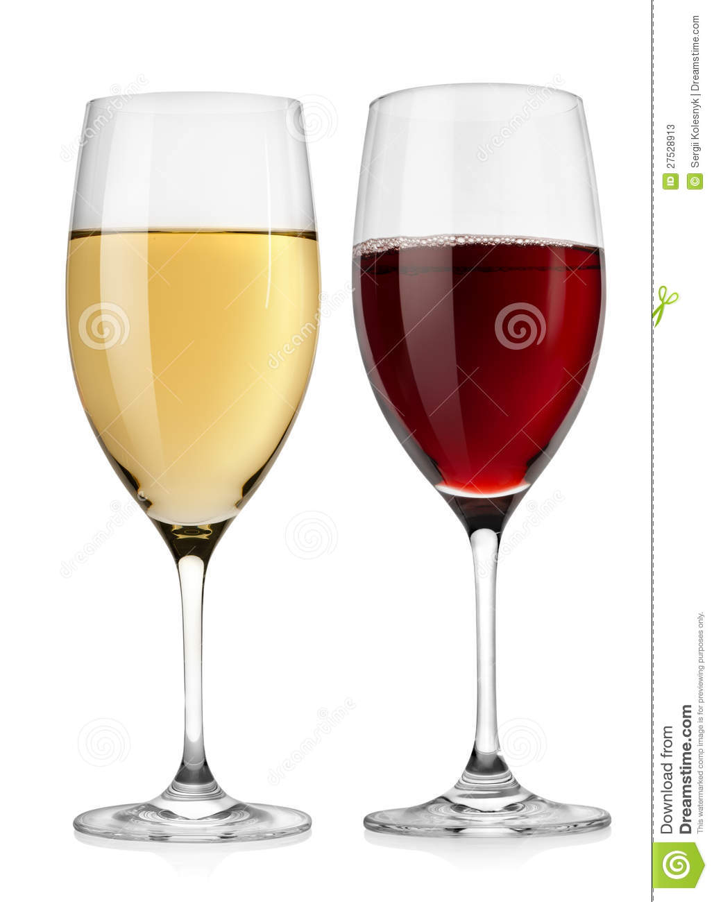Red Wine Glass And White Wine Glass Stock Image - Image of ...