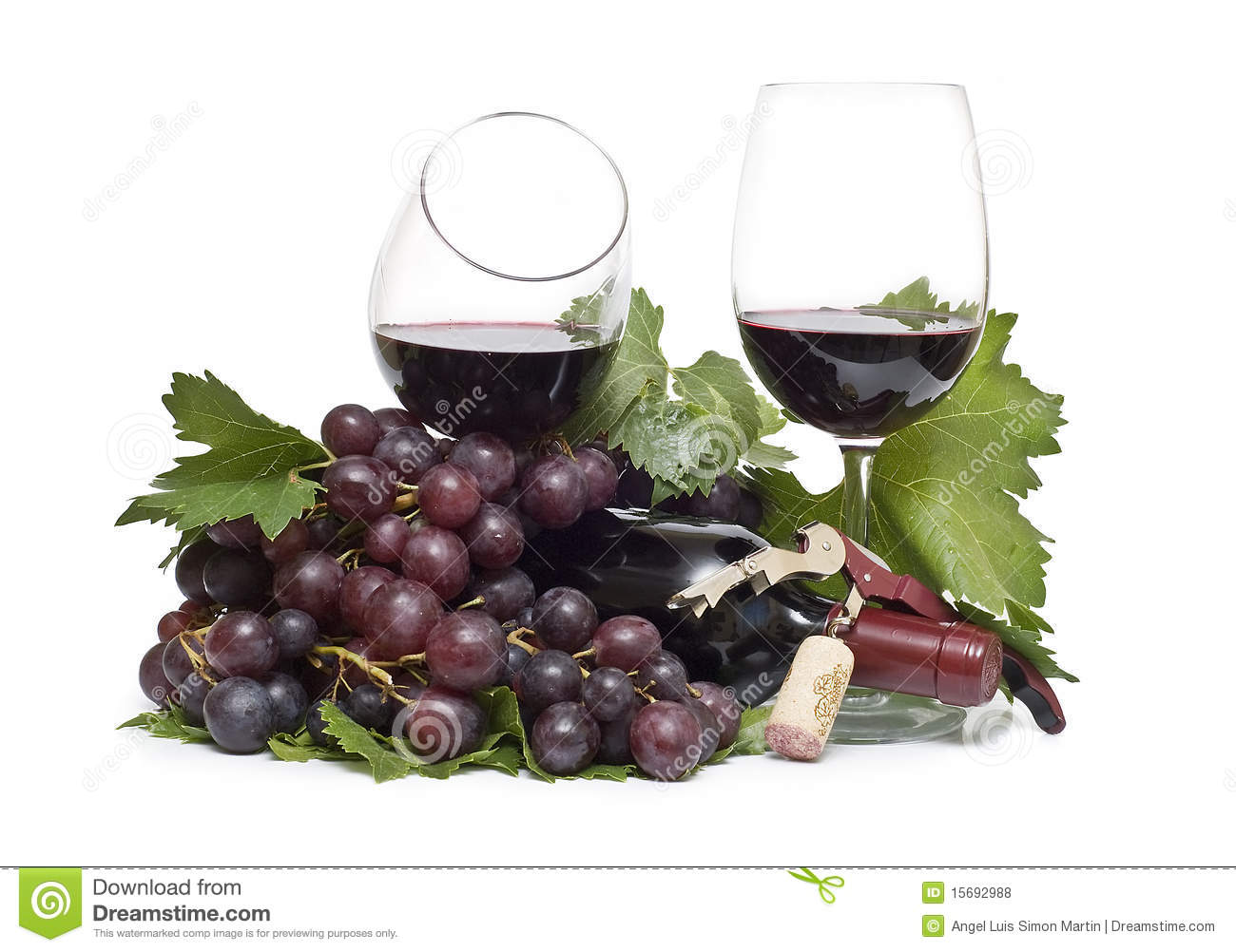 Red Wine Grapes. Royalty Free Stock Photos - Image: 15692988