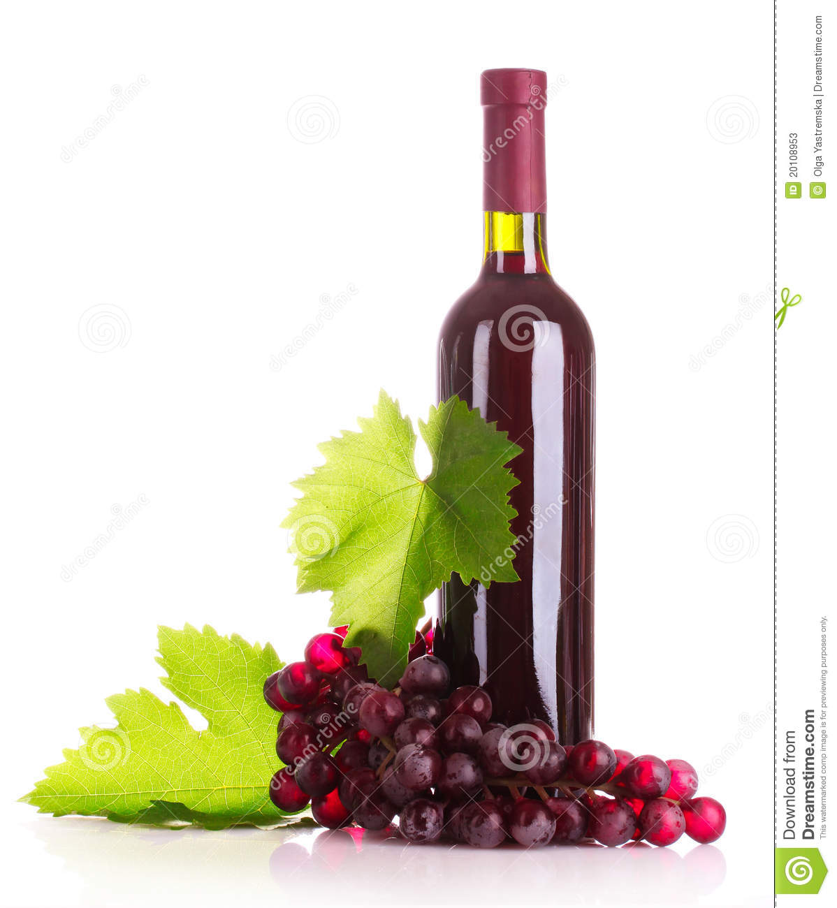 Red Wine And Grapes Stock Photos - Image: 20108953