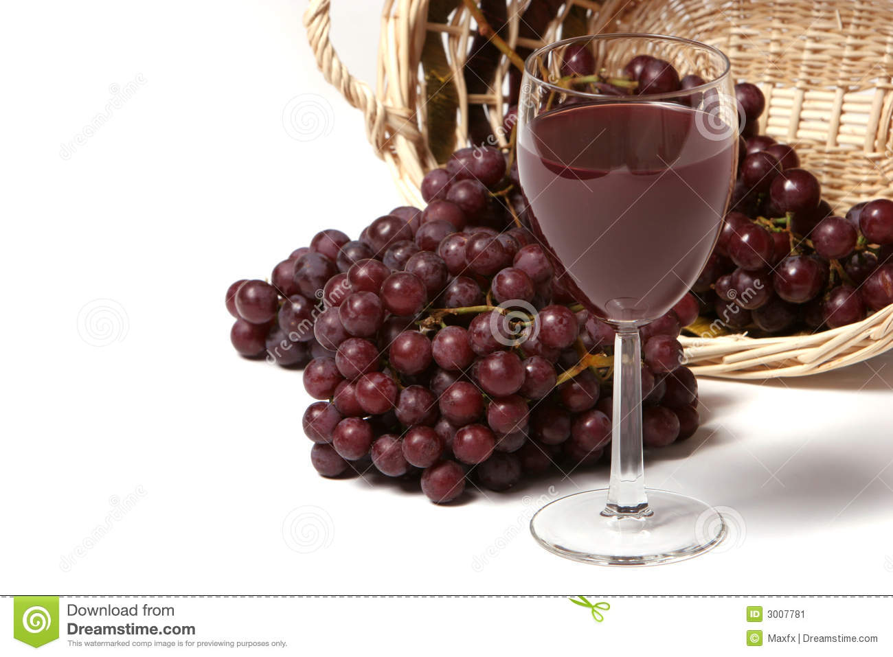 Red Wine And Grapes Stock Image - Image: 3007781