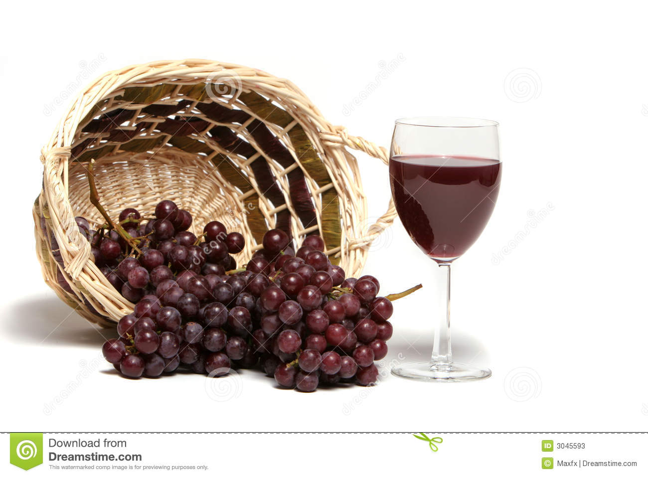 Red Wine And Grapes Stock Photos - Image: 3045593