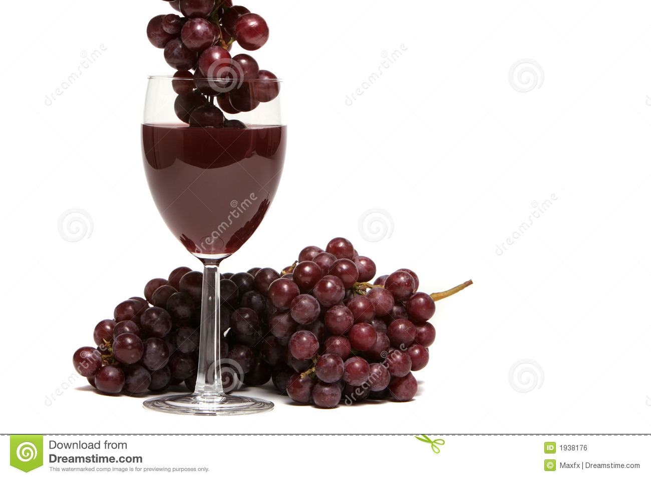 Red Wine And Grapes On White Background Royalty Free Stock ...