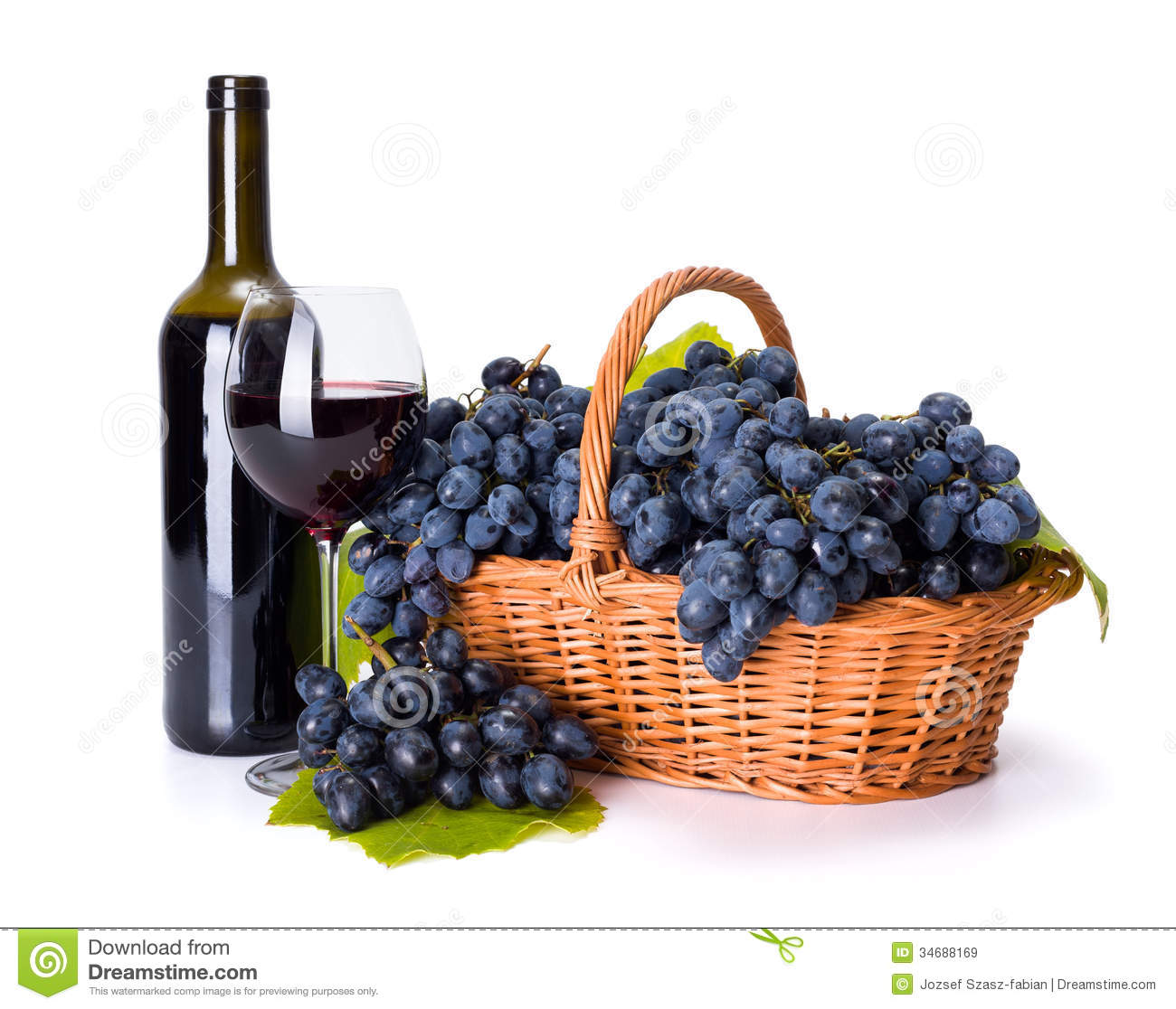 Red Wine And Ripe Blue...