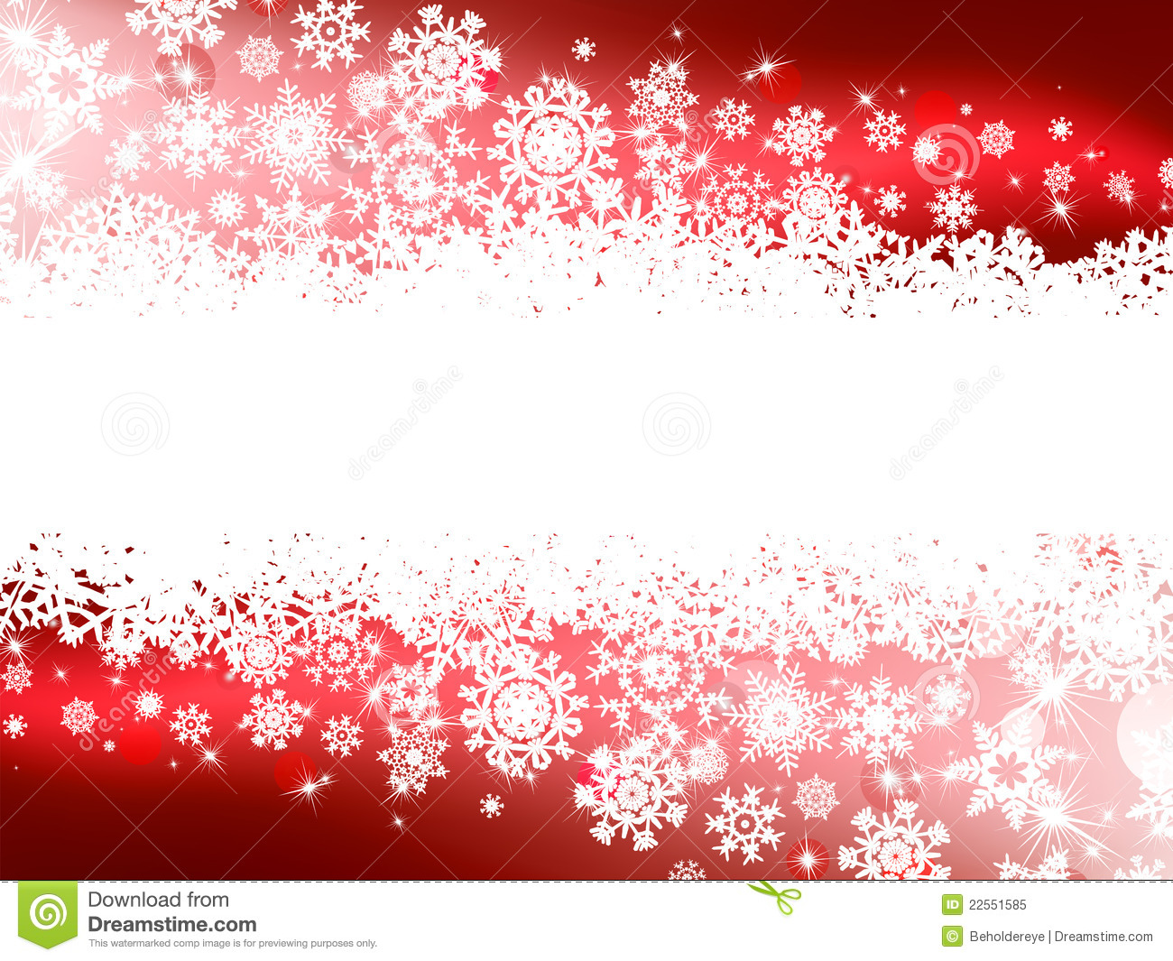 Red Winter Background & Snowflakes. EPS 8 Royalty Free Stock Photo ...