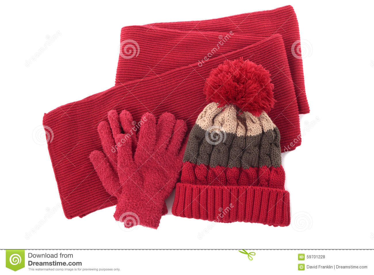 c4843a3f4ee Red winter knitted bobble hat