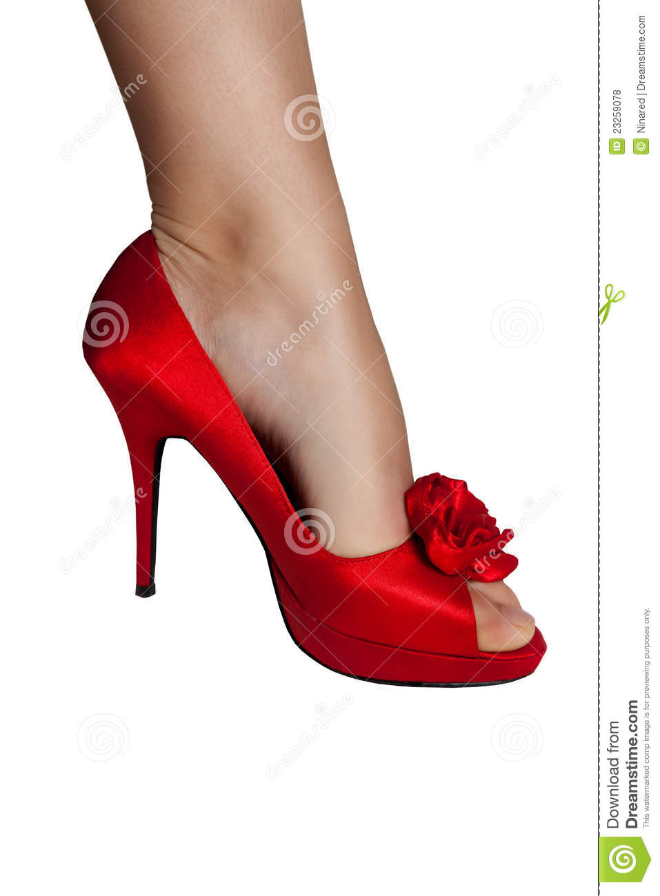 Red Women Shoes Isolated Royalty Free Stock Photos - Image: 23259078