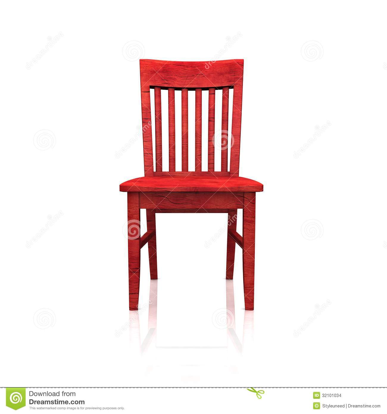 Red Wooden Chair Stock Images Image 32101034