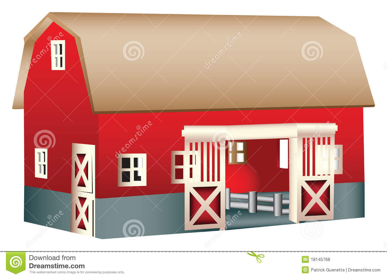 Red Wooden Toy Barn Royalty Free Stock Photos - Image ...