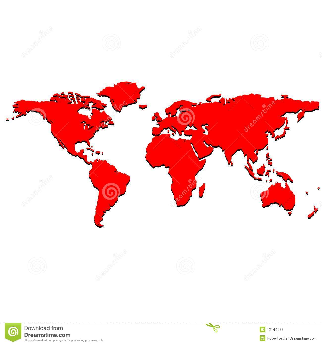 red world map stock vector illustration of background 12144433