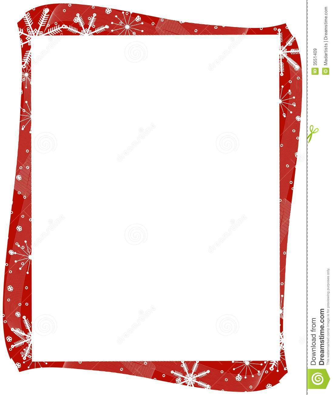 Red Xmas Snowflakes Border Royalty Free Stock Images - Image: 3551409