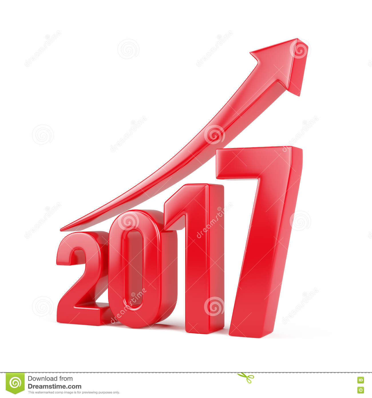 Red 2017 Year With Arrow Up - Growth Concept Stock Illustration ...