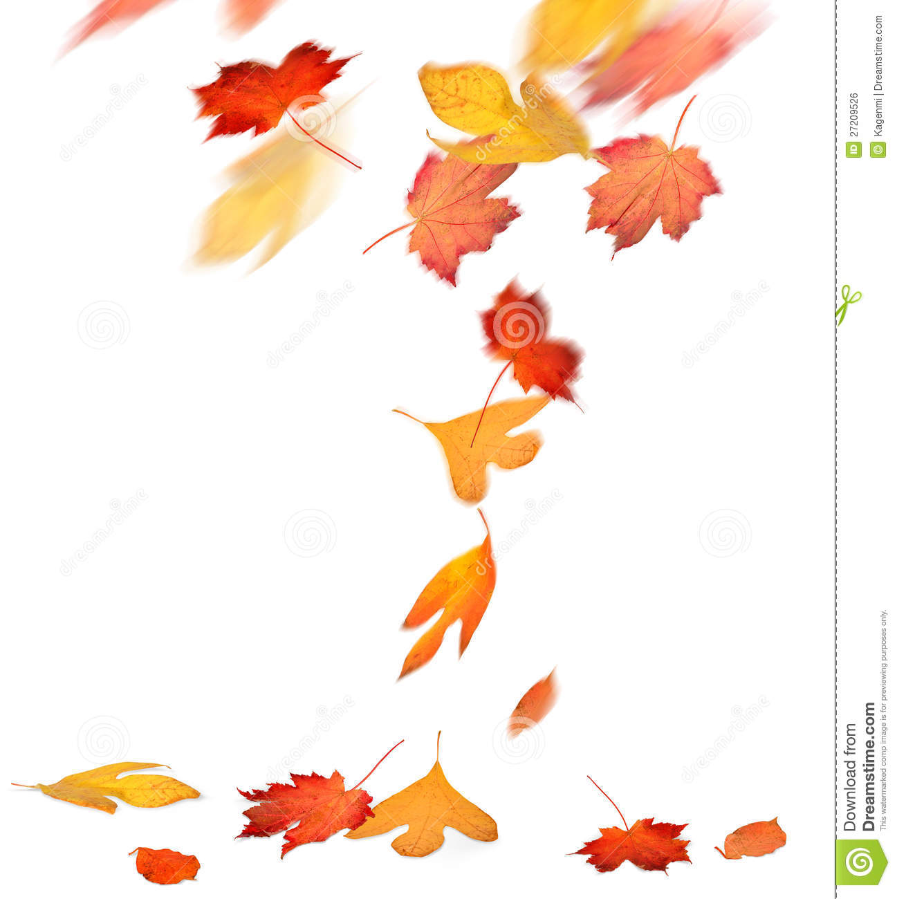 Blowing Leaves Clipart Red and yellow autumn leaves falling royalty ...