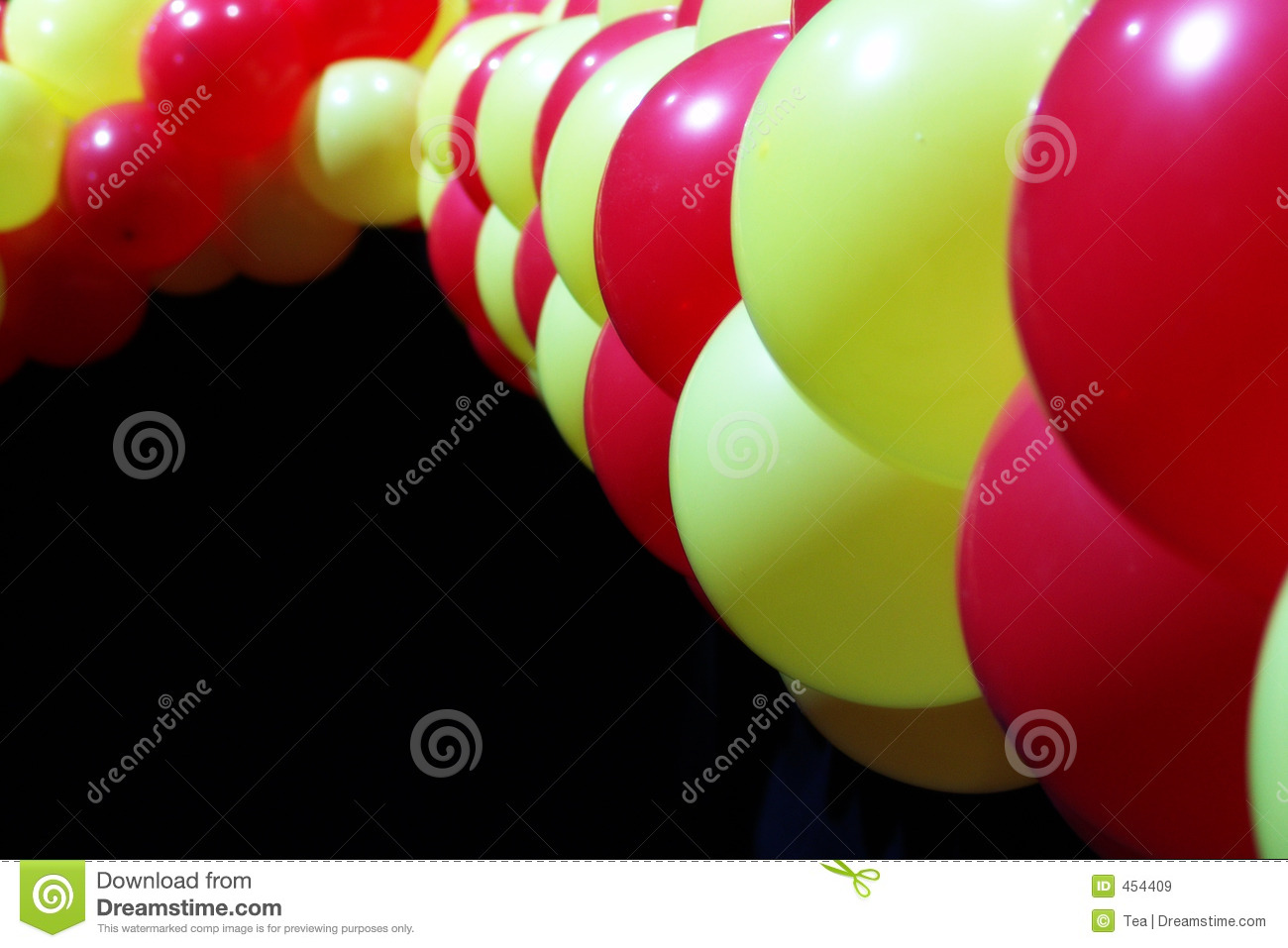 Download Red and yellow balloons stock image. Image of festival - 454409
