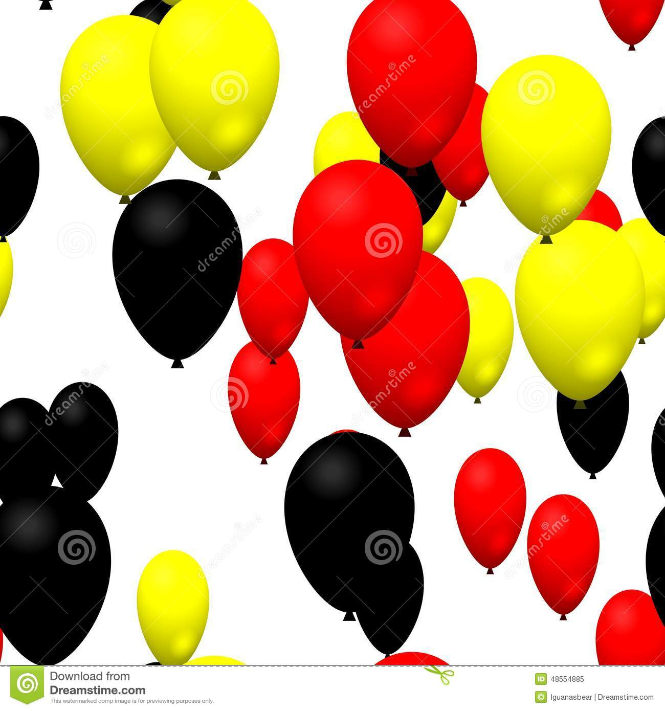 red yellow black party balloons stock illustration illustration of