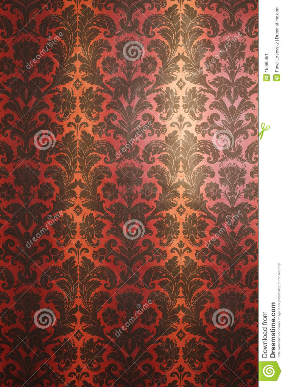 Red And Yellow With Black Pattern Wallpaper Stock Illustration
