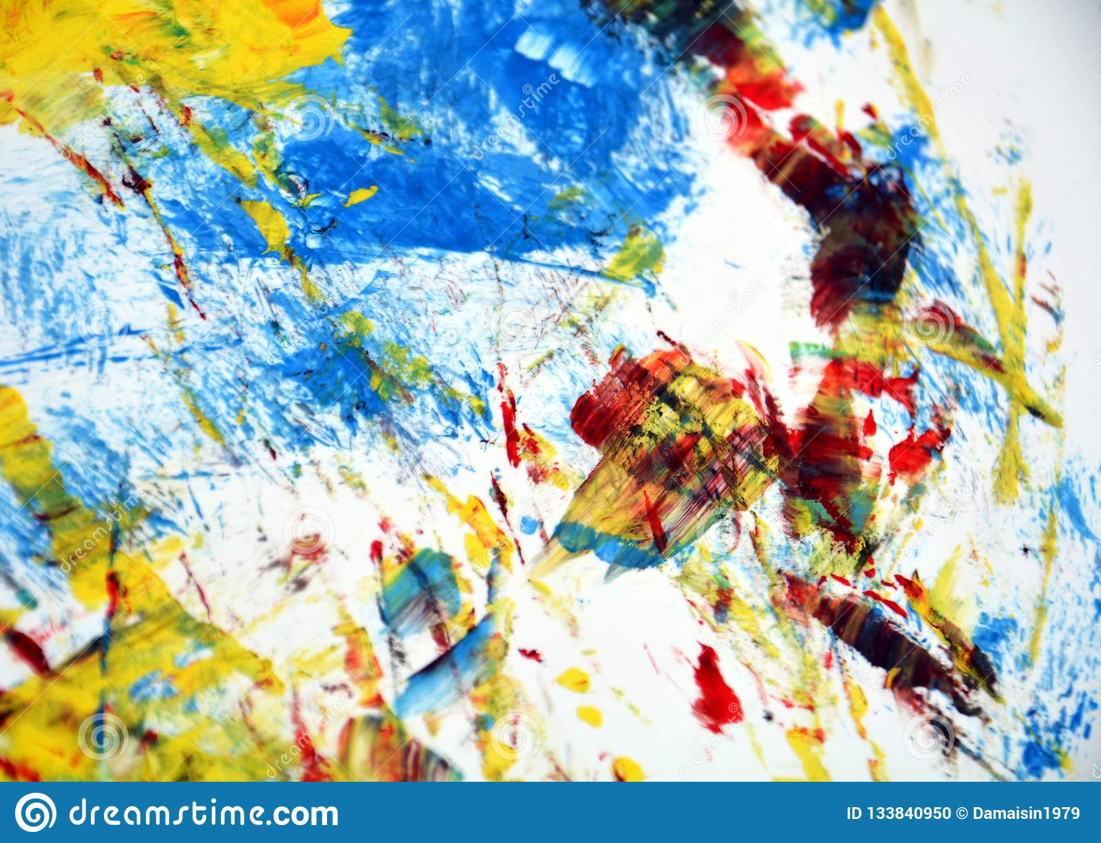 Red Yellow Blue Art Abstract
