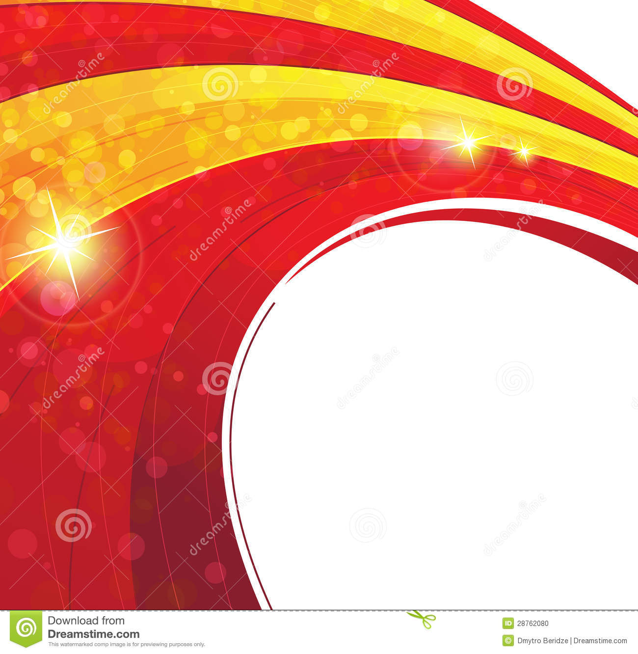 Red And Yellow Concentric Background Stock Photo Image