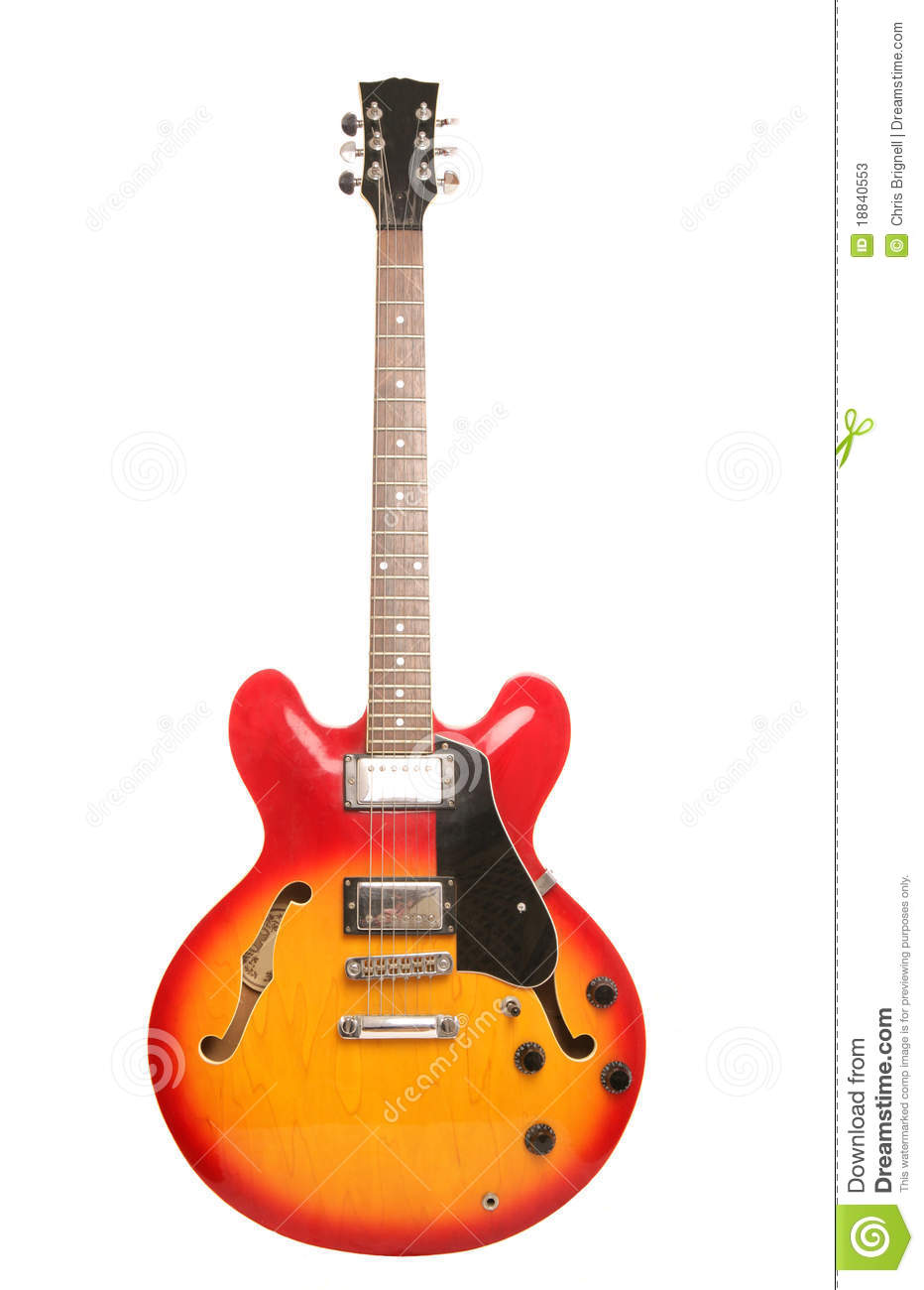 Red And Yellow Electric Guitar Stock Image Image Of Cool