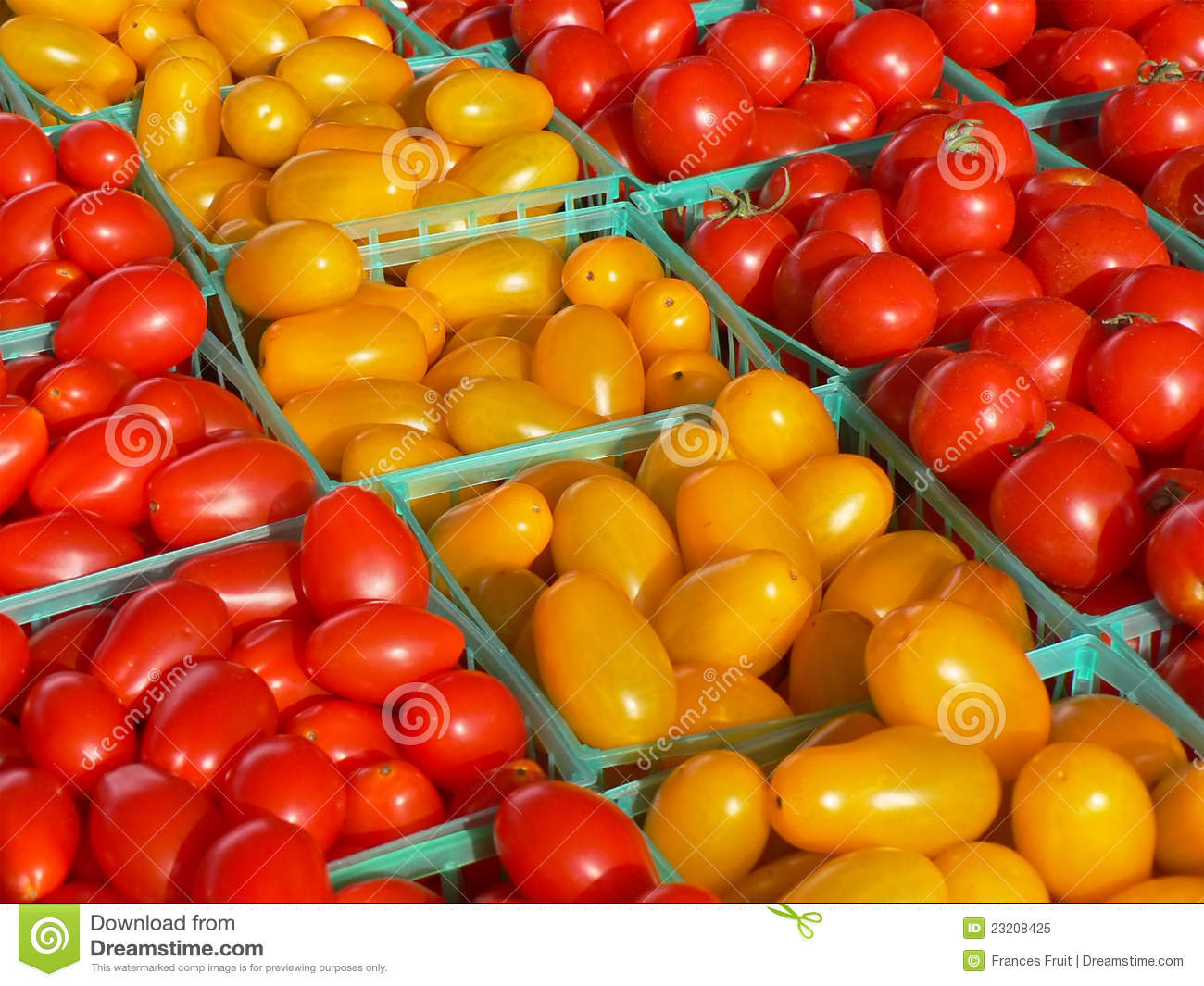 Red And Yellow Grape Tomatoes Royalty Free Stock Photo - Image ...