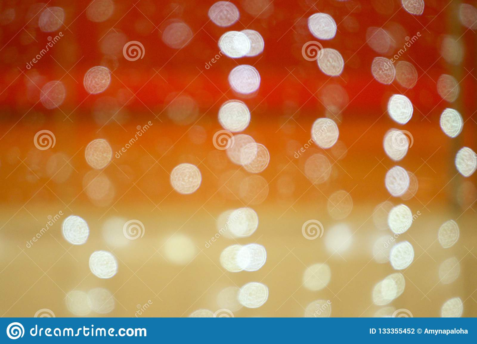 RED YELLOW ORANGE lights bokeh. Blurred abstract background