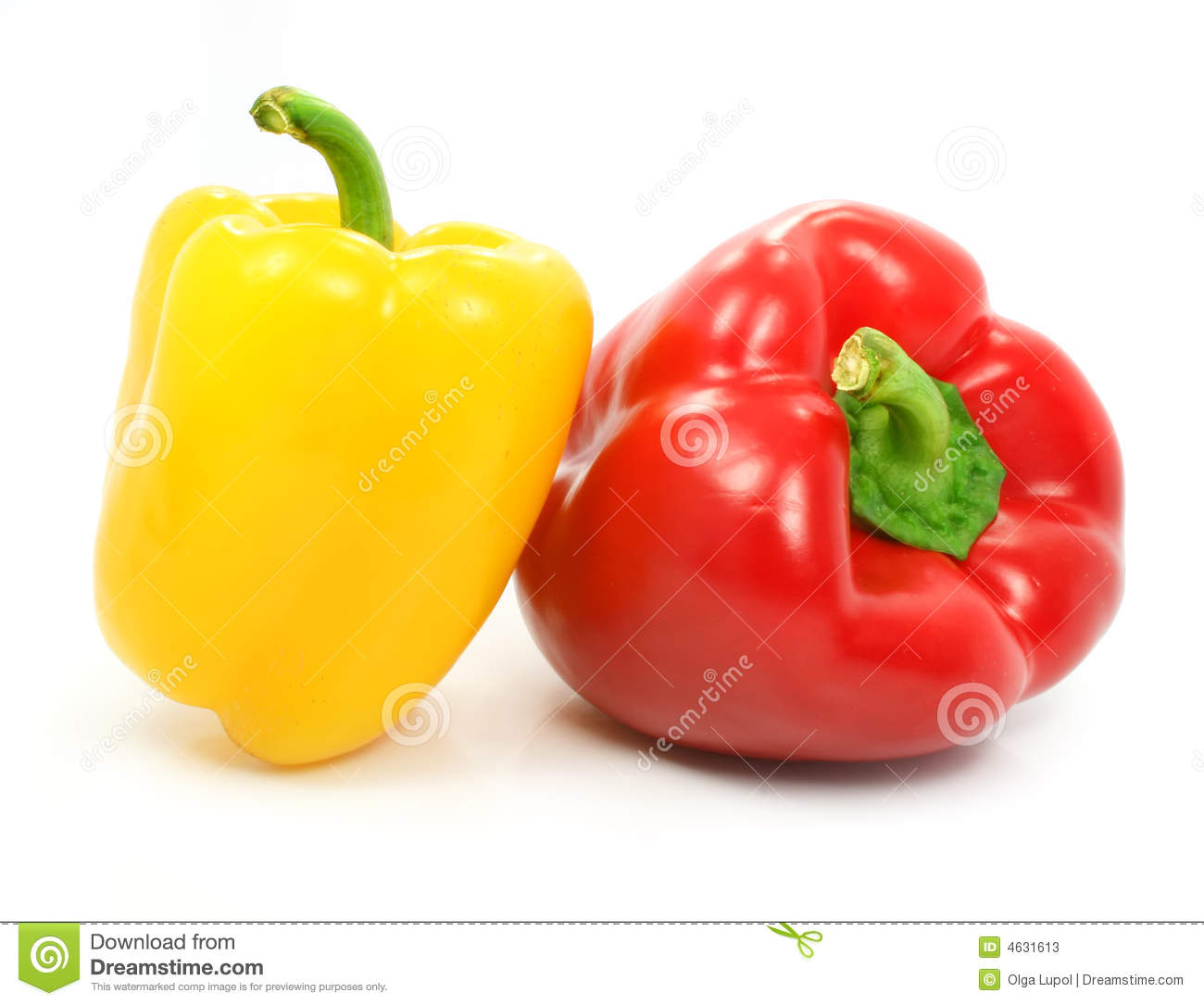 Red And Yellow Pepper Vegetables Isolated Stock Photos - Image ...