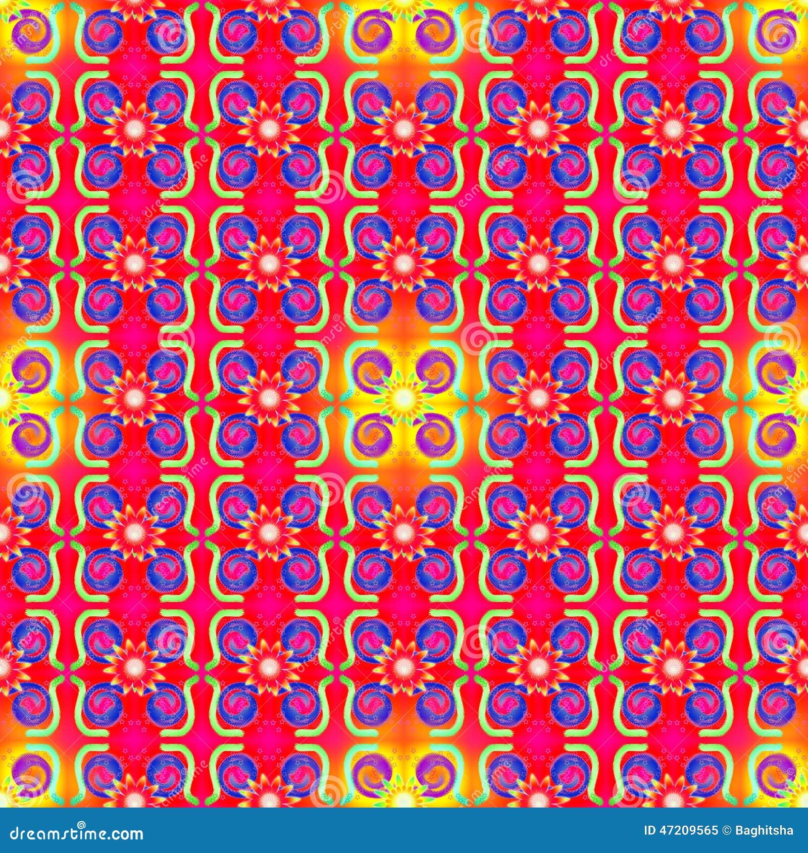 Red Yellow Seamless Pattern