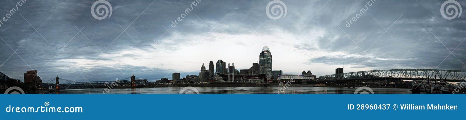 REDACTIE Panorama van Cincinnati Ohio