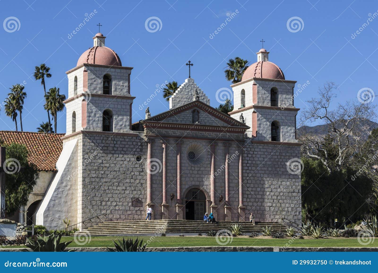 Historyczna Santa Barbara misja w Południowy Kalifornia