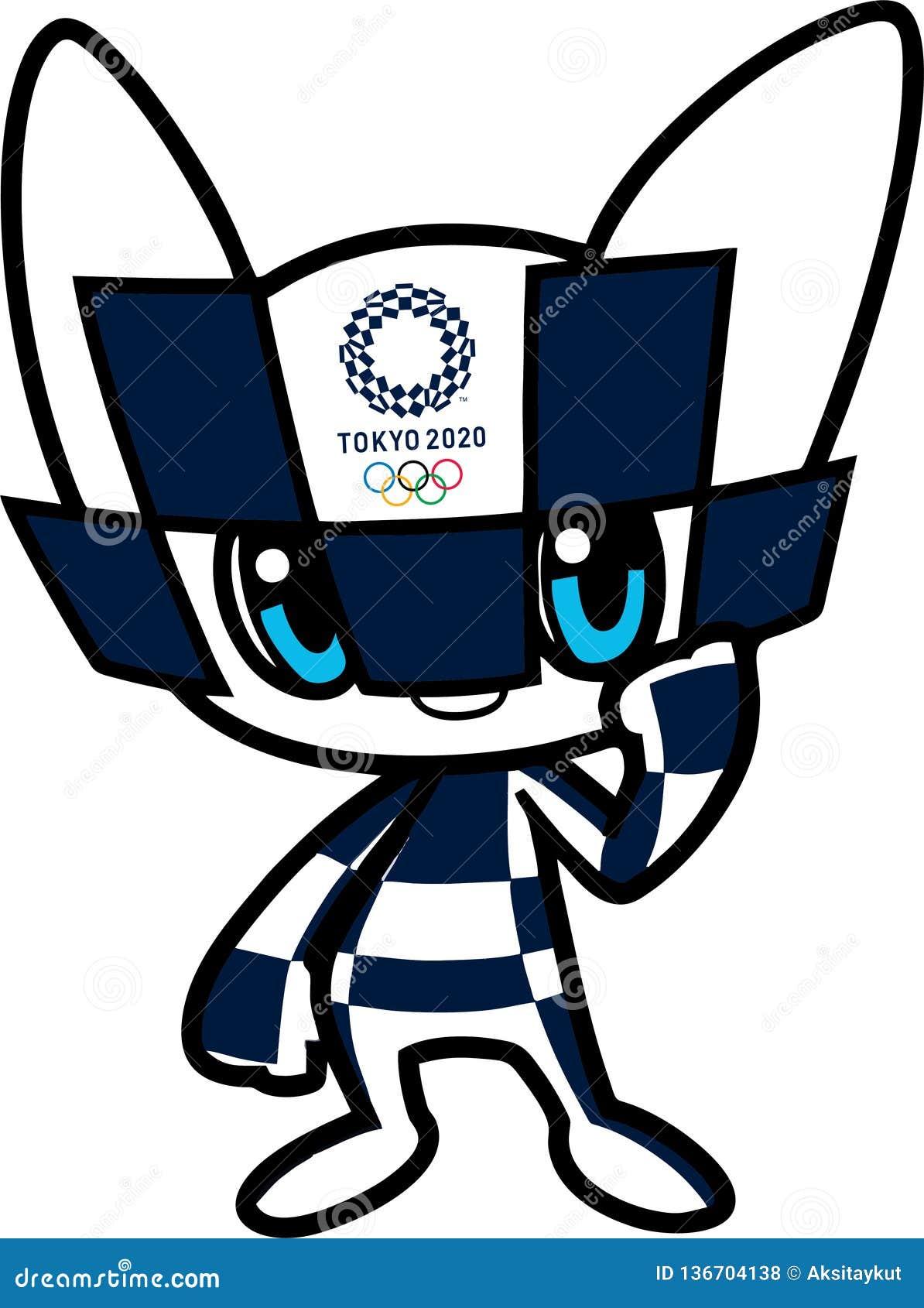Redaktionell Offizielles Maskottchen Olympischer Spiele Tokyos 2020 Redaktionelles Stockfoto Illustration Von Redaktionell Olympia 136704138