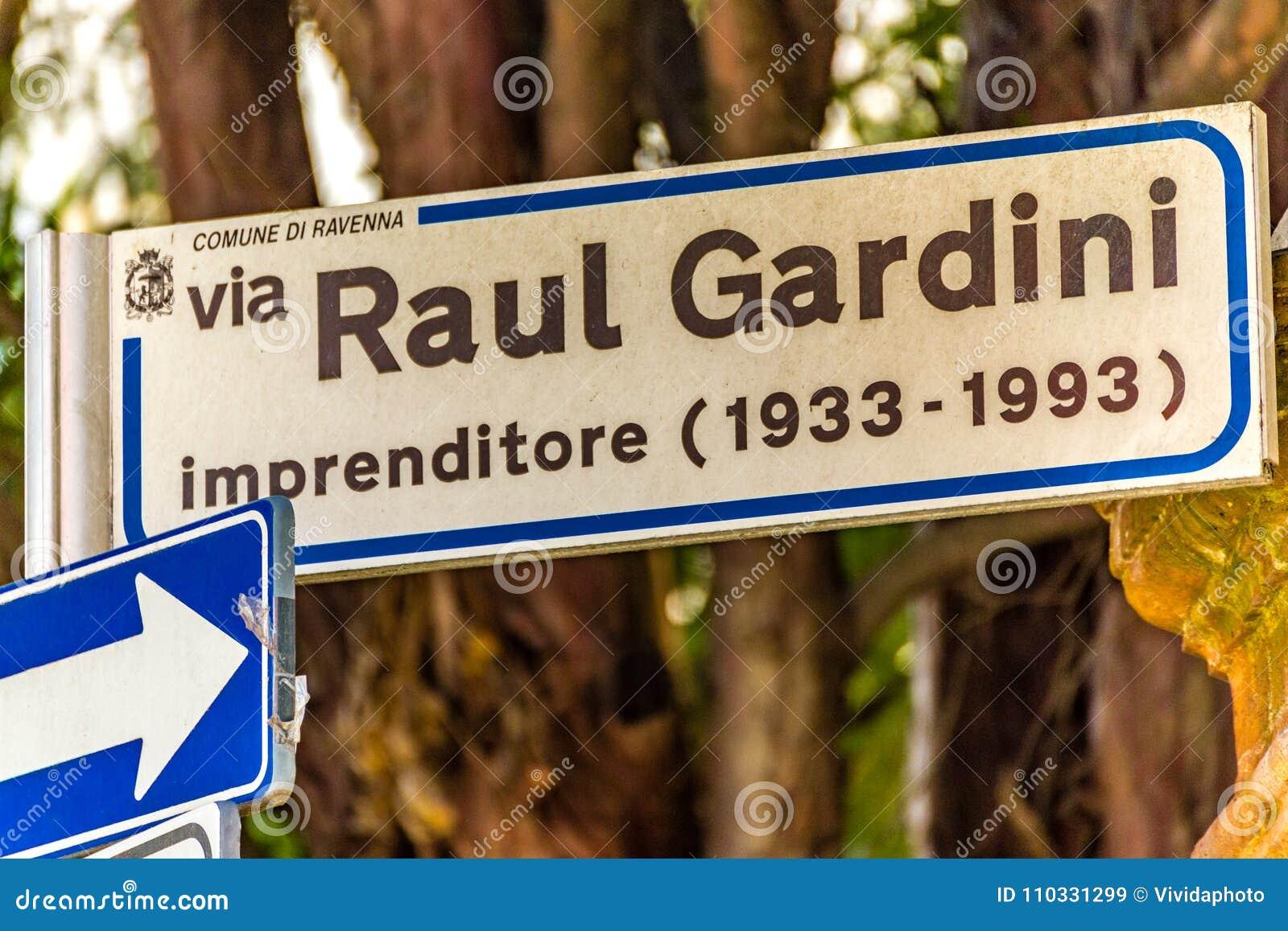 REDAKTIONELLER Raul Gardini Redaktionelles Stockbild - Bild von raul,  italien: 110331299