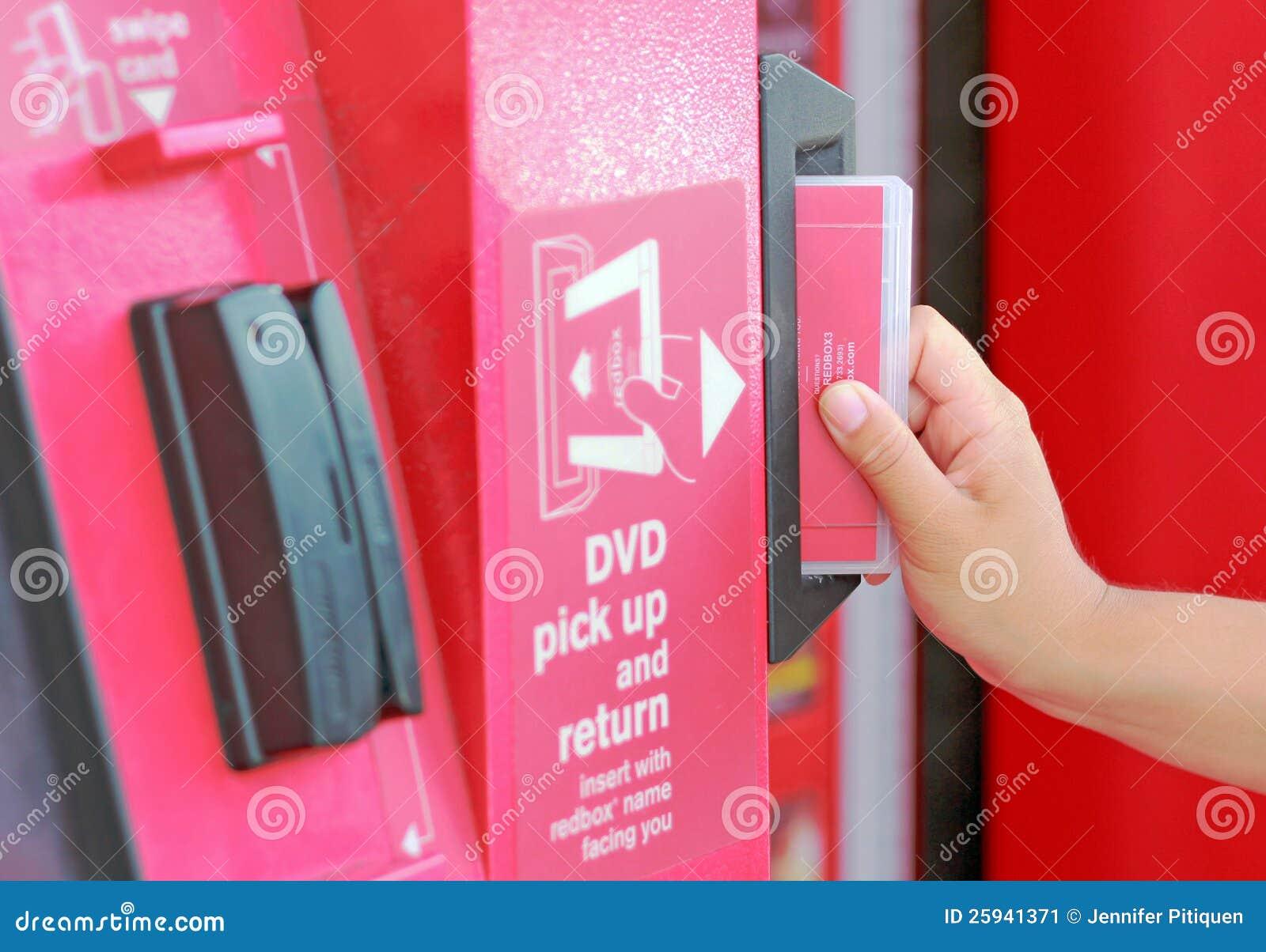 Redbox deposit slot editorial photo image 25941371