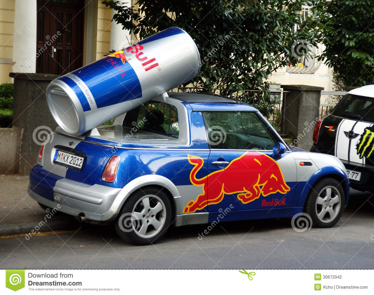 Redbull Car Editorial Photography Image 30673342